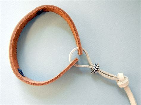 how to make jewelry with leather cord how to make leather bracelets two finishing methods