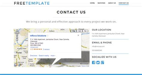 contact us page with map html 22 free html5 css3 business website templates