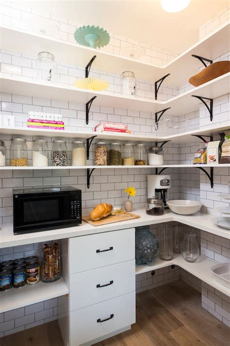 microwave in pantry walk in pantry design ideas