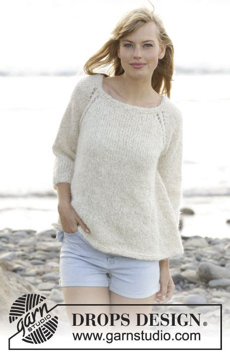Melody Raglan by Knitted Drops Jumper With Raglan Worked Top In