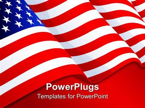 American Presentation Powerpoint Template American Flag Patriotic Background
