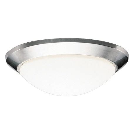 kichler nickel ceiling space 2 light fluorescent flush