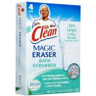 mr clean magic eraser bath scrubber 4 ct food