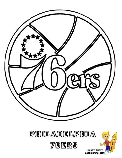 76ers Coloring Page by Buzzer Beater Basketball Coloring Sheets Nba Basketball