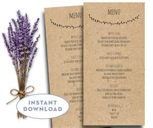 free wedding menu template for word printable wedding menu template kraft menu template 4 x 8