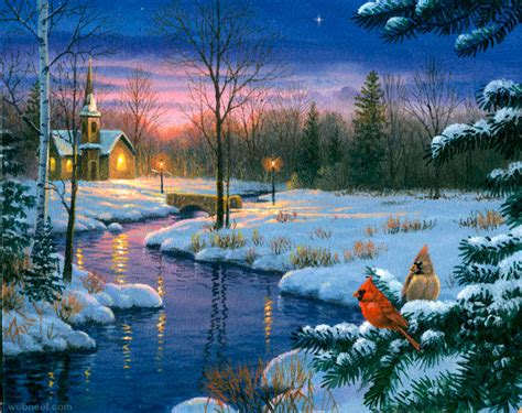 Images Of Christmas Paintings | christmas paintings 19