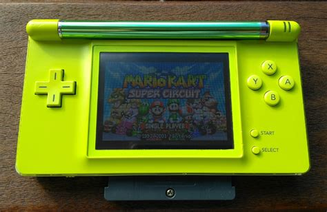 game boy macro mod console lime nintendo game boy macro from mod a base ds