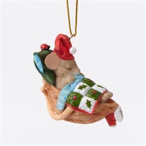 charming tails christmas ornament mouse in nutshell