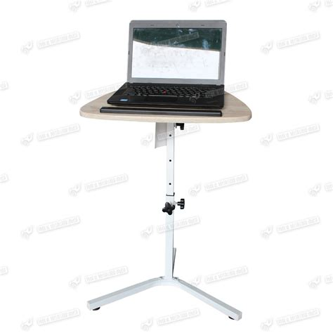 Best Laptop Stand For Desk Stand Table Steel Height Adjustable Laptop Notebook Computer Desk Beech Top Ebay