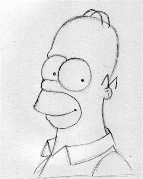 How To Draw The Simpsons On The by How To Draw How To Draw Simpsons Homer Drawing