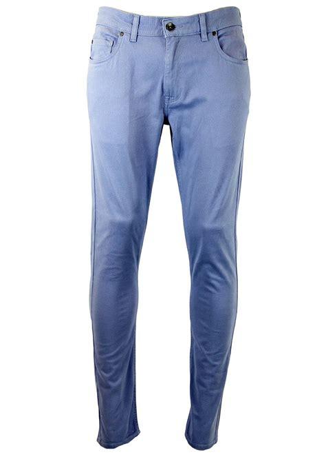 Pb Fairah farah retro 60s mod 5 pocket slim twill trousers in polar blue