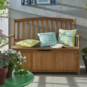 banc avec coffre de jardin en bois aland castorama
