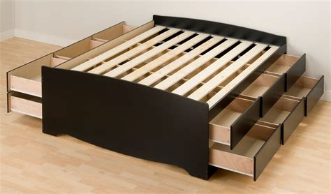 tall platform bed prepac tall queen platform storage bed in black with 12