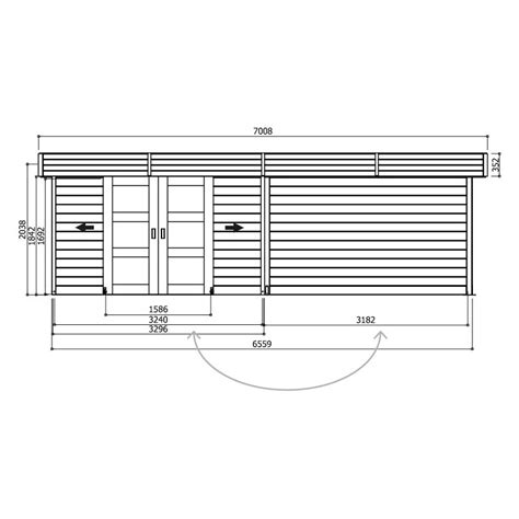 Aspirateur A Eau 3408 by Abri De Jardin Arhus 7 96 M2 Dim 3 296 3 263 X 2 416m