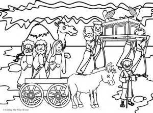 coloring page crossing the jordan river joshua 171 crafting the word of god