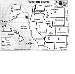 us map with abbreviations quiz the western states capitals abbreviations proprofs quiz