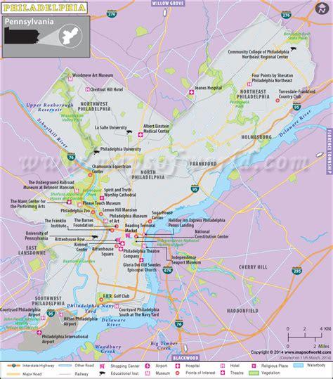 usa philadelphia map philadelphia map map of philadelphia city pennsylvania
