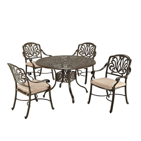 Discount Patio Furniture Canada by Home Styles 5pc Dining Set 48inch Bronze Table With Four