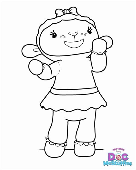 coloring pages doctor mcstuffins doc mcstuffins lambie coloring pages az coloring pages