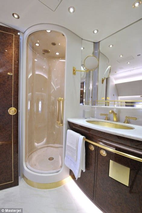 private plane bathroom inside airbus a320 head of state carrying prince charles