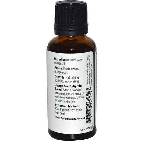 Orange Essential Oils Now Food now foods essential oils orange 1 fl oz 30 ml iherb