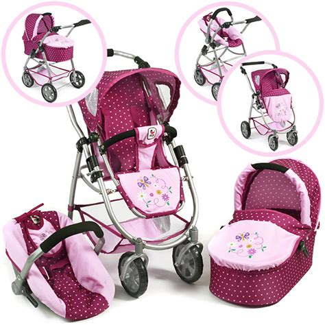 Maxi Baby Set 3in1 bayer chic 2000 puppenwagen emotion all in 3in1 dots