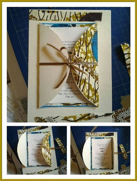 diy wedding invitations south africa made from a south tradition cloth