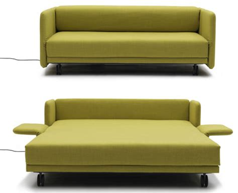 lazy luxury sleeper: convertible push button couch + bed