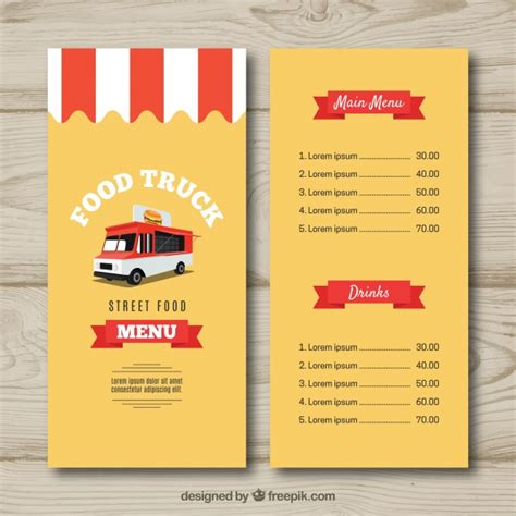 food truck menu template kitchen vectors photos and psd files free