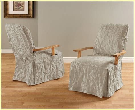 slipcovered dining chairs with arms slipcovers for chairs with arms home design ideas