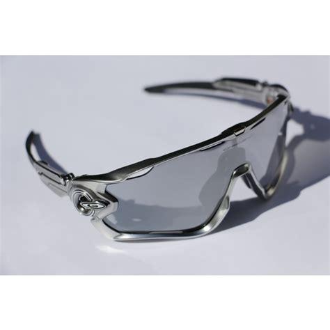 Oakley Silver Vented Frame Black Chrome Iridium Lens oakley jawbreaker chrome black iridium