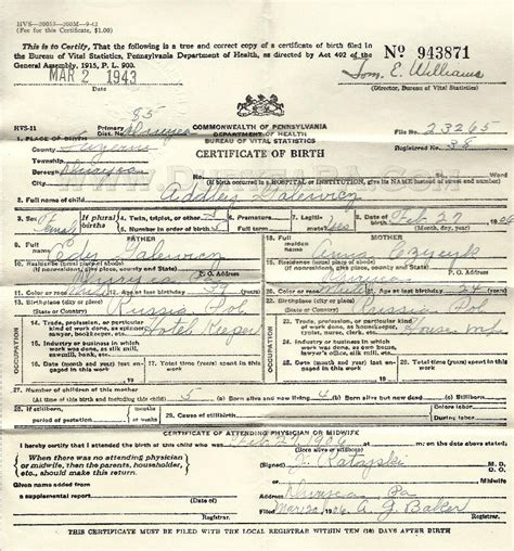Pa Birth Records Duryea Pennsylvania Historical Homepage