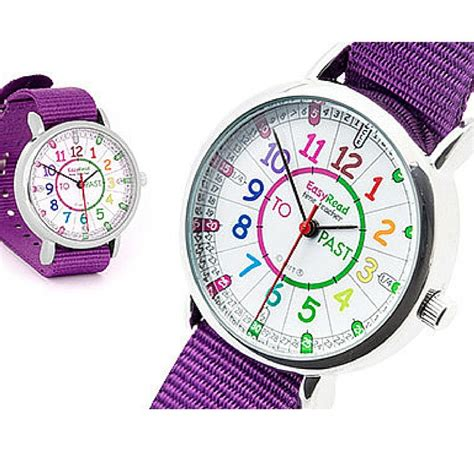 colored time easy read time telling the time