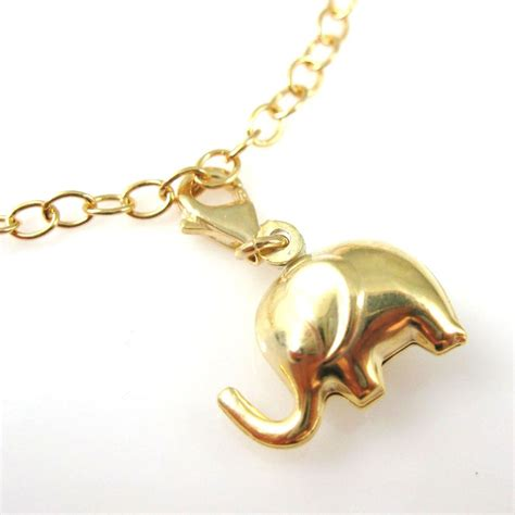 gold plated sterling silver elephant charm charm with