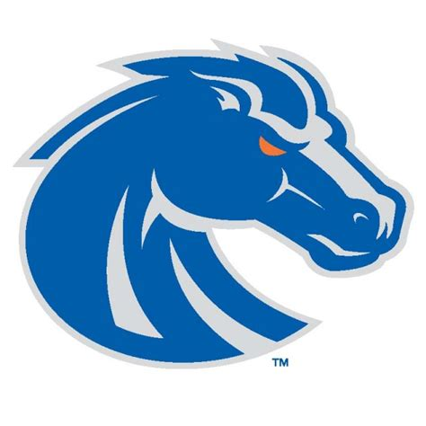 Bsu Search Boise State Sticker New Bronco Logo Blue And Silver Small