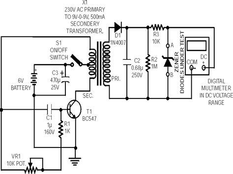 zener diode resistance measurement 28 images zener diode tester circuit measuring and test