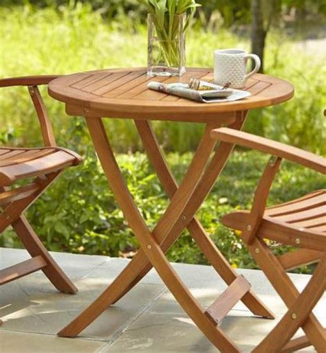 Adelaide Bistro Table Hton Bay Adelaide 27 In Eucalyptus Folding Patio Bistro Table Ktot 1739 Hdp The Home