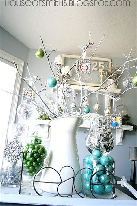 green silver for christmas blue green white and silver decorating ideas