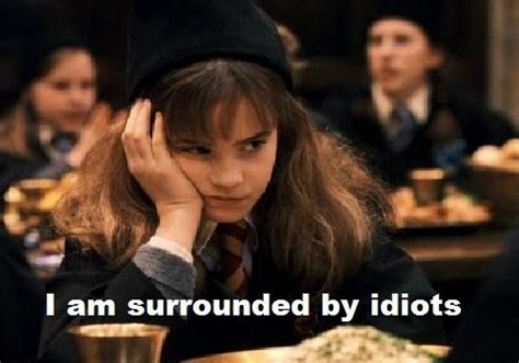 Hermione Granger Memes - i am surrounded by idiots hermione granger photo