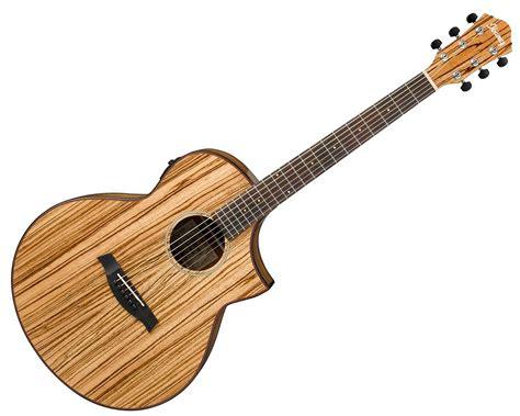 Gitar Akustik Elektrik Yamaha Wood ibanez aew40zw zebrawood acoustic electric wood