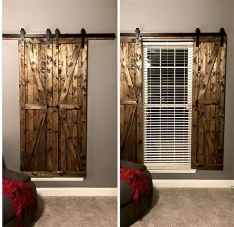 Barn Doors With Windows Ideas Barn Door Window Shutters Mi Casa No Es Su Casa Pinterest Barn Doors Barn And Window