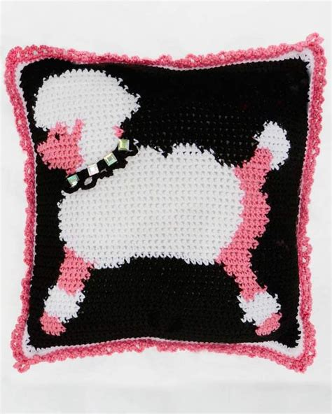 yarn poodle pattern poodles and hearts afghan and pillows crochet pattern