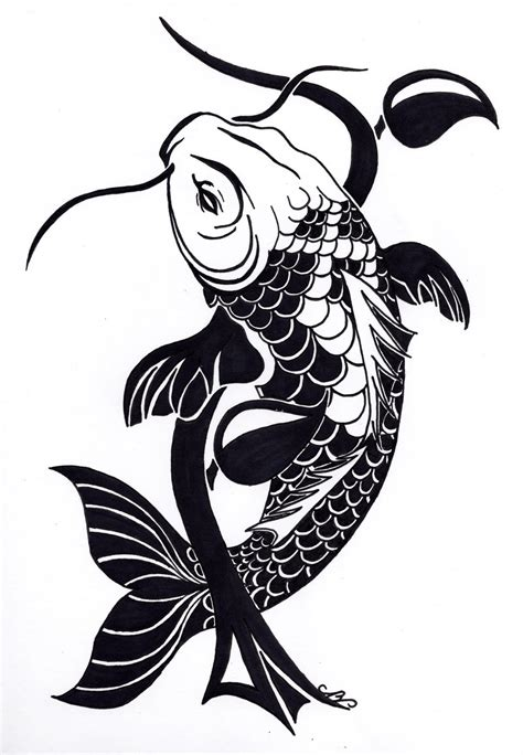 tribal fish tattoo designs tribal koi fish design by nikolai bartolf