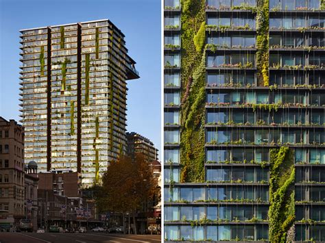 Pool House Plan by One Central Park By Jean Nouvel Features Lush Vertical Gardens