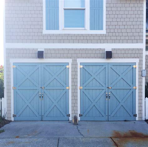 Blue Garage Door by Wilmington And Bald Island Em For Marvelous