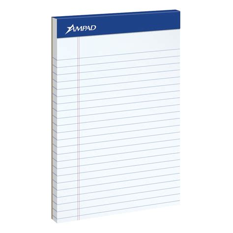 writing pad paper ad 174 writing pad 5 quot x 8 quot white paper blue headtape