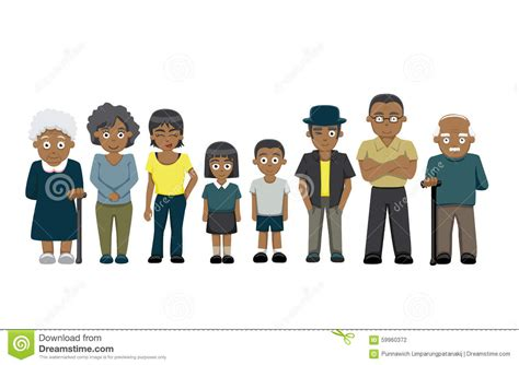House Plans For Two Families by Family Standing Cartoon Vector Illustration 2 Black