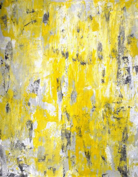 painting greys picking around grey and yellow abstract painting painting by carollynn tice