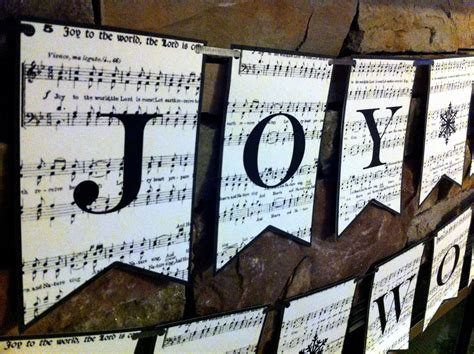 printable joy banner from the carriage house projects of christmas past