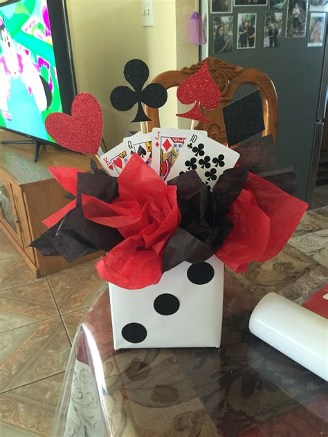 homemade themes by james casino themed birthday party centerpiece pinteres